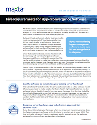 5 Requirements for Hyperconvergence