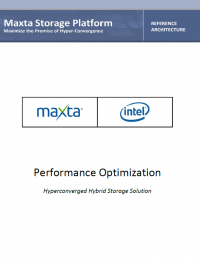 RPDF_Maxta Intel Performance-Optimized Refrence Architecture